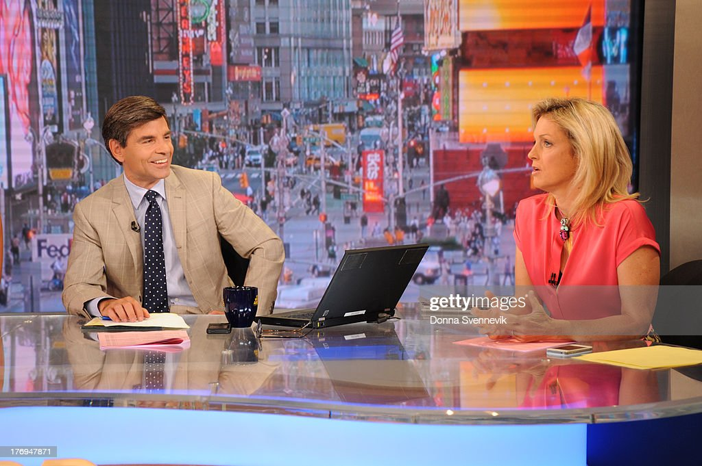 AMERICA - Ali Wentworth fills in during 'Pop News' on GOOD MORNING AMERICA, 9/14/13, airing on the ABC Television Network. GEORGE