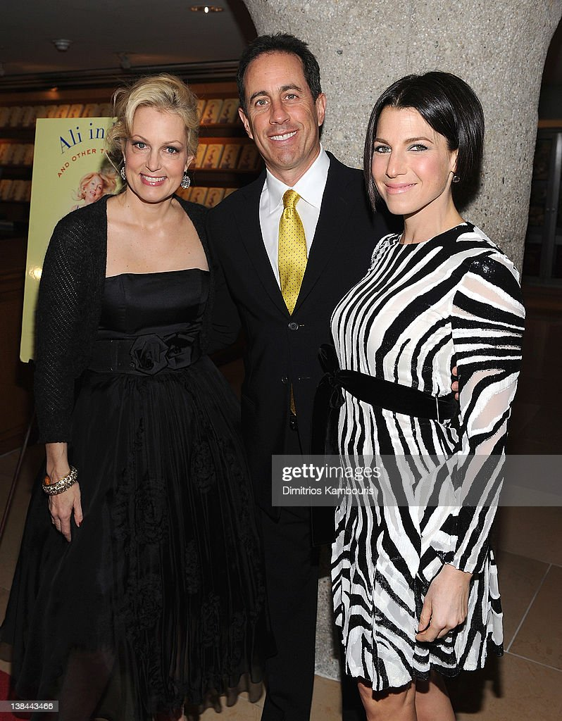 Ali Wentworth, <a gi-track='captionPersonalityLinkClicked' href=/galleries/search?phrase=Jerry+Seinfeld&family=editorial&specificpeople=210541 ng-click='$event.stopPropagation()'>Jerry Seinfeld</a> and <a gi-track='captionPersonalityLinkClicked' href=/galleries/search?phrase=Jessica+Seinfeld&family=editorial&specificpeople=206558 ng-click='$event.stopPropagation()'>Jessica Seinfeld</a> attend the book launch party for Ali Wentworth's new book 'Ali In Wonderland' at Sotheby's on February 6, 2012 in New York City.
