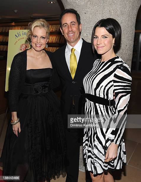 Ali Wentworth Jerry Seinfeld and Jessica Seinfeld attend the book launch party for Ali Wentworth's new book 'Ali In Wonderland' at Sotheby's on...