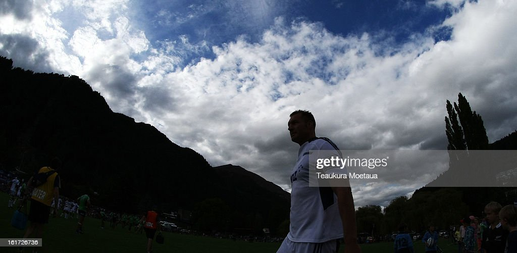 Ali Williams of the Blues looks on during the Super Rugby trial match between the Highlanders and the Blues at the Queenstown Recreation Ground on February 15, 2013 in Queenstown, New Zealand.