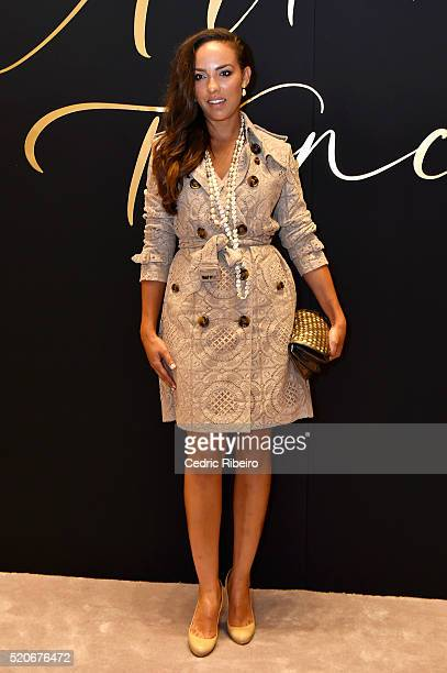 'DUBAI UNITED ARAB EMIRATES APRIL 12 Alia al Senussi at the Burberry Art of the Trench Middle East event at Mall of the Emirates on April 12 2016 in...