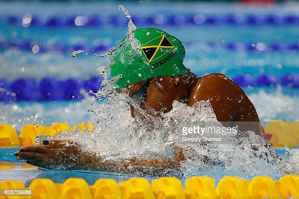 Alia Atkinson of Jamaica competes in a preliminary heat of the 100m Breaststroke on day four of the 13th FINA World Swimming Championships at the...