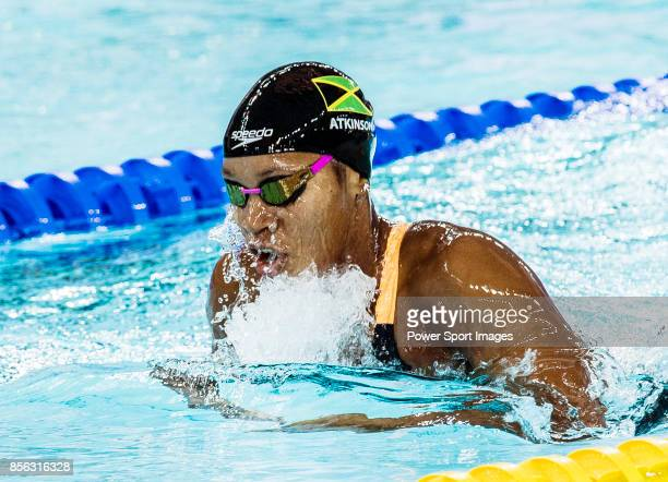 Alia Atkinson of Jamaica during the FINA Swimming World Cup Women's 200m Breaststroke Final on October 01 2017 in Hong Kong Hong Kong