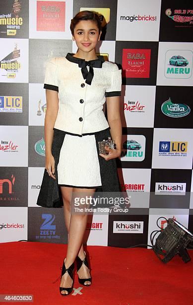 Alia Bhatt at Mirchi music awards in Mumbai