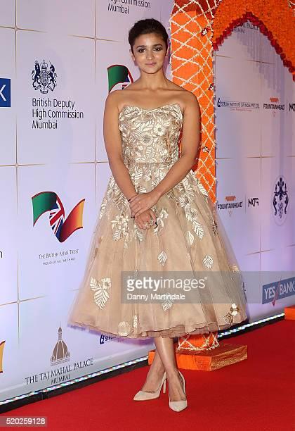 Alia Bhatt attend the Bollywood Charity Gala at the Taj Palace Hotel on April 10 2016 in Mumbai India