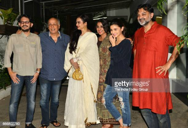 Alia Bhatt Rekha Vidya Balan Mahesh Bhatt and Vishesh Bhatt at the screening of 'Begum Jaan' in Mumbai