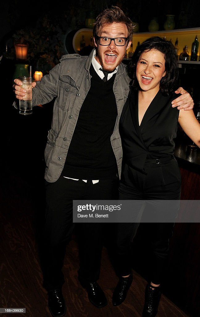 <a gi-track='captionPersonalityLinkClicked' href=/galleries/search?phrase=Alia+Shawkat&family=editorial&specificpeople=206872 ng-click='$event.stopPropagation()'>Alia Shawkat</a> (R) and guest attend an after party celebrating the UK Premiere of the Netflix Original Series 'Arrested Development: Season 4' at Sketch on May 9, 2013 in London, England.