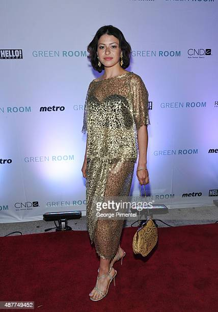 Alia Shawkat attends the 'Green Room' TIFF party hosted by Metro and HELLO Canada at Byblos on September 10 2015 in Toronto Canada
