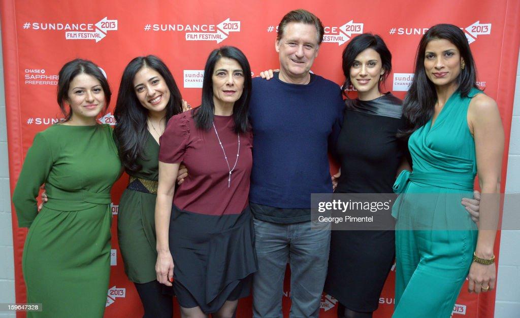 Alia Shawkat, Nadine Malouf, Hiam Abbass, Bill Pullman, Cherien Dabis and Ritu Singh Pande attend the 'May In The Summer' premiere during the 2013 Sundance Film Festival at Eccles Center Theatre on January 17, 2013 in Park City, Utah.