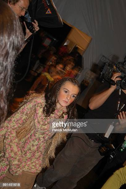 Aliana Lohan attends Child Magazine Fashion Show at The Atelier Tent at Bryant Park on February 7 2005 in New York City