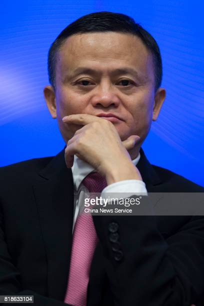 Alibaba chairman Jack Ma attends a news conference of the 2017 USChina Business Leaders Summit on July 18 2017 in Washington United States