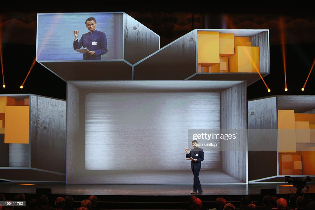 Alibaba Group Executive Chairman <a gi-track='captionPersonalityLinkClicked' href=/galleries/search?phrase=Jack+Ma&family=editorial&specificpeople=2110288 ng-click='$event.stopPropagation()'>Jack Ma</a> speaks at the opening ceremony of the 2015 CeBIT technology trade fair on March 15, 2015 in Hanover, Germany. China is this year's CeBIT partner. CeBIT is the world's largest tech fair and will be open from March 16 through March 20.