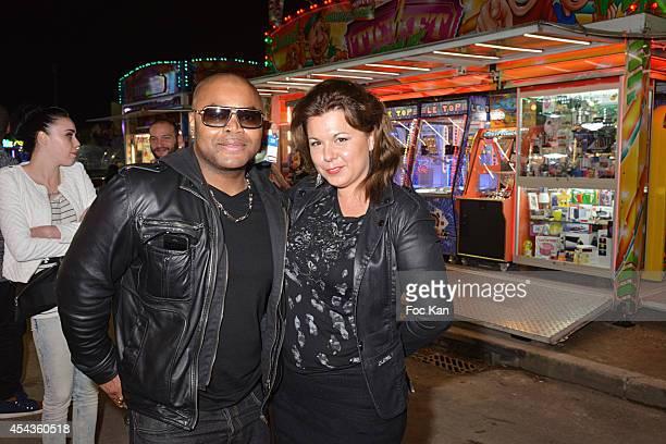 Alibi Montana and Cindy Lopes attend the 'Fete A Neu Neu' At Porte De La Muette on August 29 2014 in Paris France