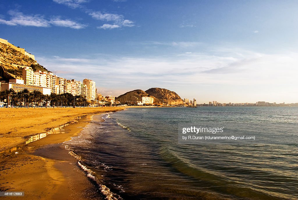 Alicante postiguet beach stock photo getty images - Stock uno alicante ...