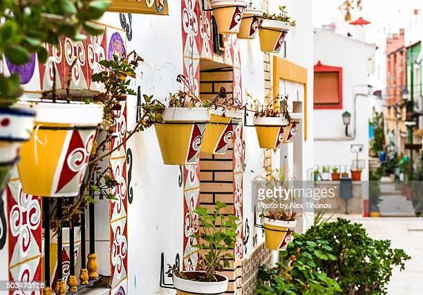 Alicante street. Spain