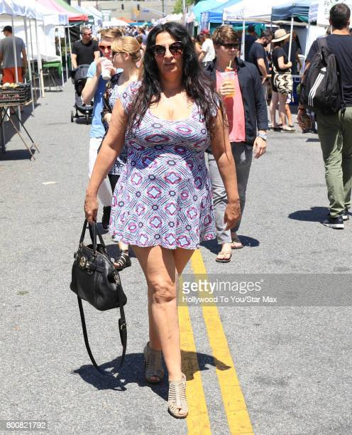 Alice Amter is seen at a farmer's market on June 25 2017 in Los Angeles California
