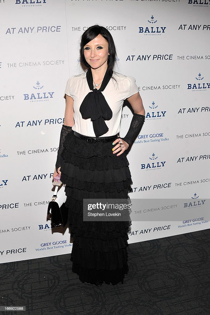 Alice and Olivia designer Stacey Bendet attends the Cinema Society & Bally screening of Sony Pictures Classics' 'At Any Price' at Landmark Sunshine Cinema on April 18, 2013 in New York City.