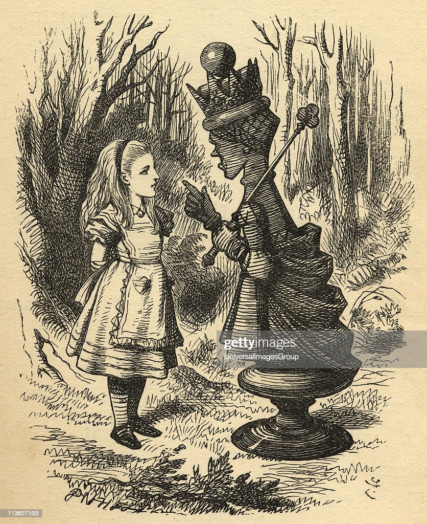 Alice and the Red QueenIllustration by Sir John Tenniel 18201914 From the book 'Through the LookingGlass and What Alice Found There' by Lewis Carroll...