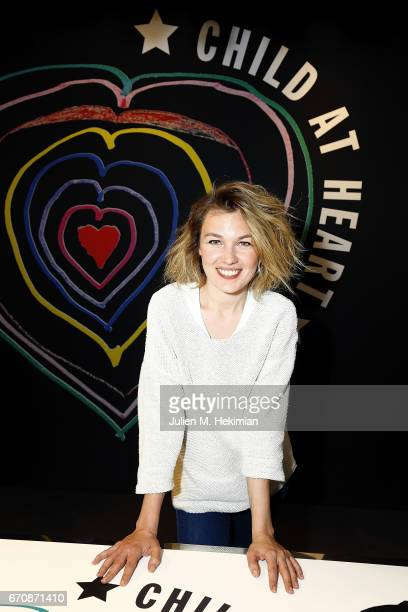 Alice Aufray attends Fashion For Relief 'Child At Heart' cocktail party on April 20 2017 in Paris France The 'Child At Heart' collection created by...