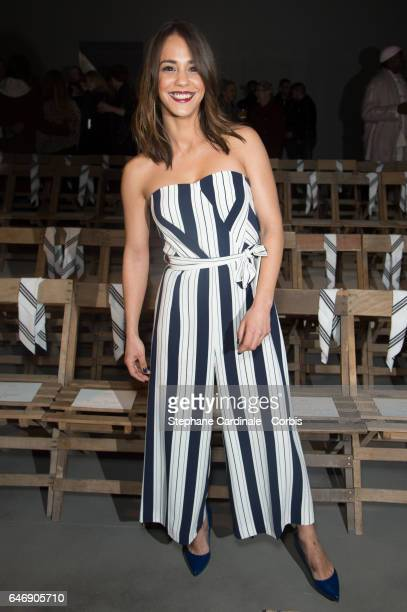 Alice Belaidi attends the HM Studio show as part of the Paris Fashion Week on March 1 2017 in Paris France