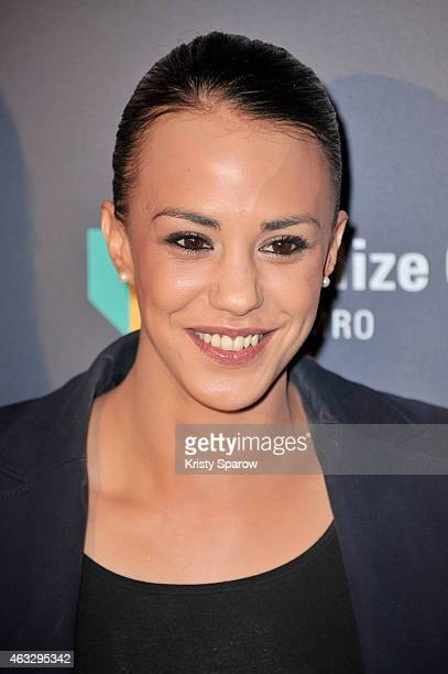 Alice Belaidi attends the 'Trophees Du Film Francais' 22nd annual ceremony at Palais Brongniart on February 12 2015 in Paris France