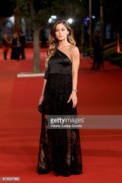 Alice Bellagamba walks a red carpet for 'The Rolling Stone Ole' Ole' Ole' A trip Across Latin America' during the 11th Rome Film Festival at...