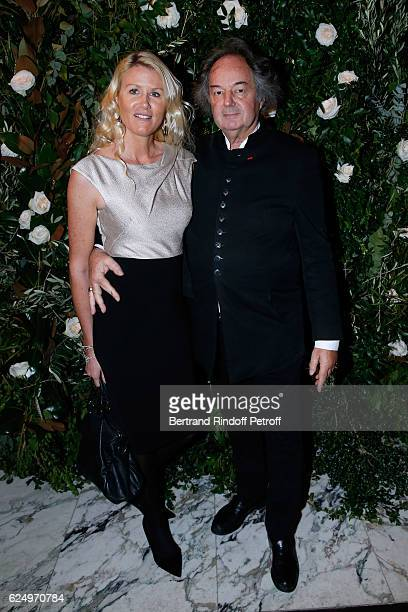 Alice Bertheaume and Gonzague Saint Bris attend the 'Diner des amis de Care' for the 70th anniversary of the Association Held at Espace Cambon on...