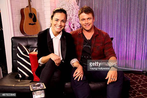 Alice Braga and Luke Hemsworth at the Young Hollywood Studio on Mar 24 2015 in Los Angeles California