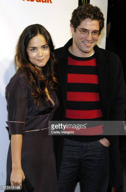 Alice Braga and Nuno Lopes during 5th Annual Tribeca Film Festival 'Journey to the End of the Night' Premiere After Party Premiere Film Music Lounge...