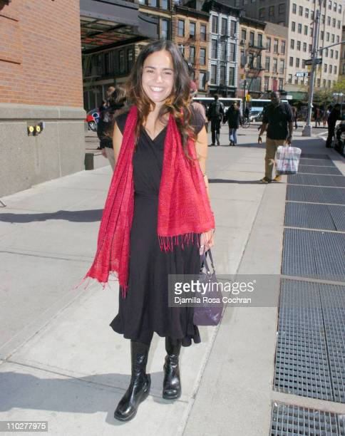 Alice Braga during 5th Annual Tribeca Film Festival Celebrity Sightings April 29 2006 at Tribeca in New York City New York United States