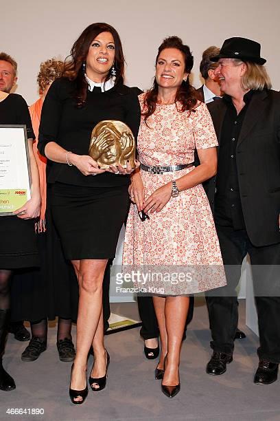 Alice Brauner and Christine Neubauer attend the Deutscher Hoerfilmpreis 2015 on March 17 2015 in Berlin Germany