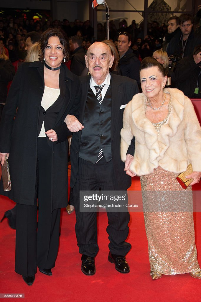 Alice Brauner, Artur Brauner and Alice Brauner attend 'The Grand Budapest Hotel' Premiere and opening ceremony during the 64th Berlinale International Film Festival, in Berlin, Germany.