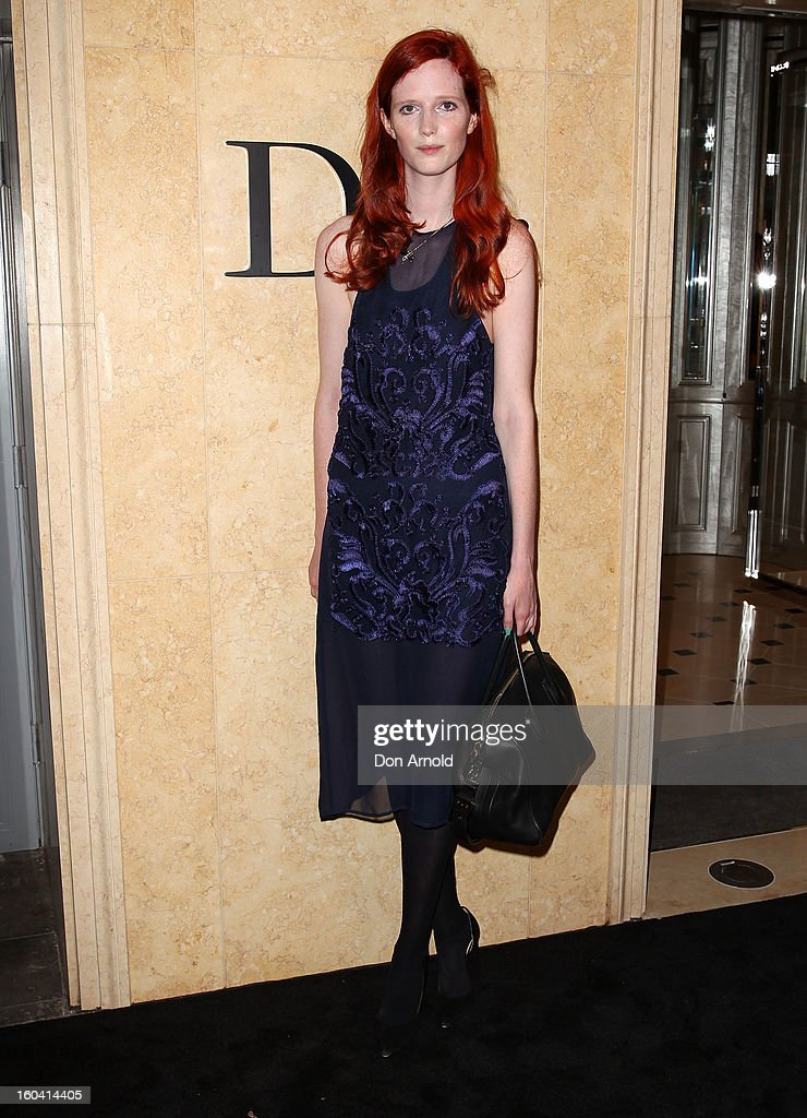 Alice Burdeau poses at the opening of the Christan Dior Sydney store on January 31, 2013 in Sydney, Australia.