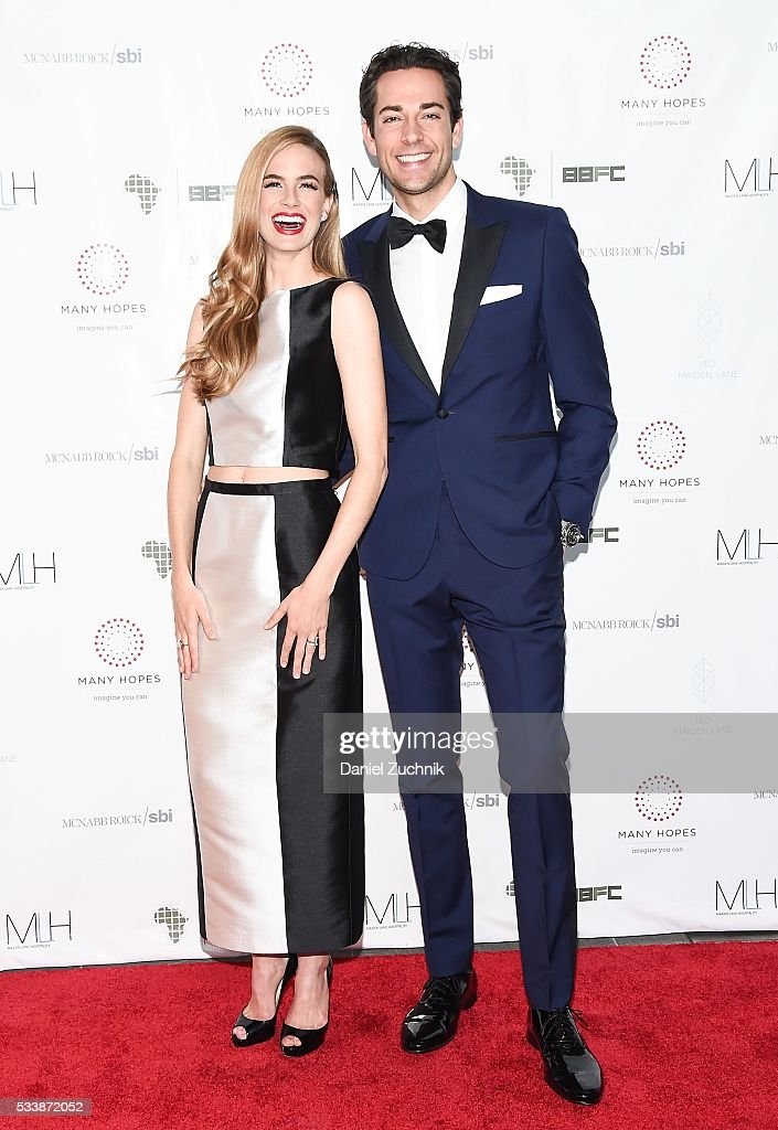 Alice Callahan and Zachary Levi attend the 2016 Discover Many Hopes Gala on May 23 2016 in New York City