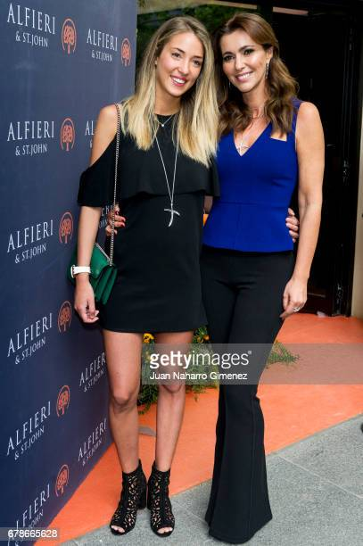 Alice Campello and Arancha del Sol attend 'Alfieri St Johns' inaguration on May 4 2017 in Madrid Spain