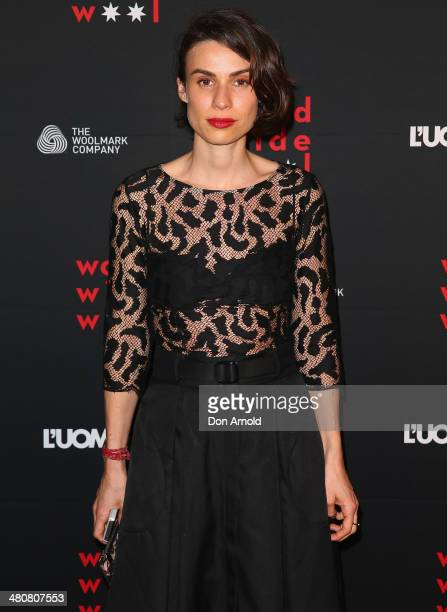 Alice Cavanagh arrives at the L'Uomo Vogue and Woolmark Company Gala and Exhibition to celebrate L'Uomo Vogue magazine's March Issue dedicated to...