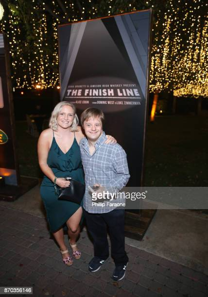 Alice Cogin and actor Luke Zimmerman at Jameson First Shot at Paramount Studios on November 4 2017 in Hollywood California