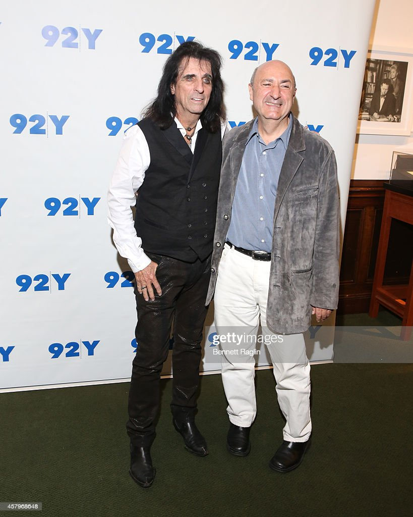 Alice Cooper and Anthony DeCurtis attends 'Super Duper Alice Cooper' Screening And Conversation Alice Cooper And Anthony DeCurtis at 92nd Street Y on October 27, 2014 in New York City.