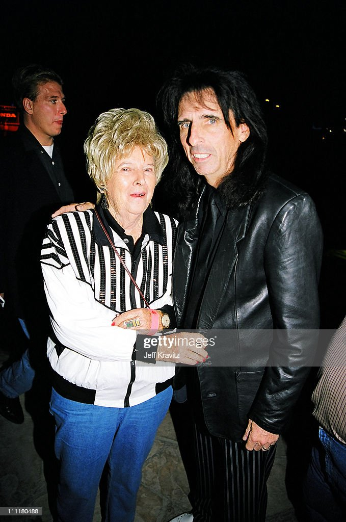 Alice Cooper and his mother during 1998 Fairway to Heaven Golf Tournament in Las Vegas, Nevada, United States.