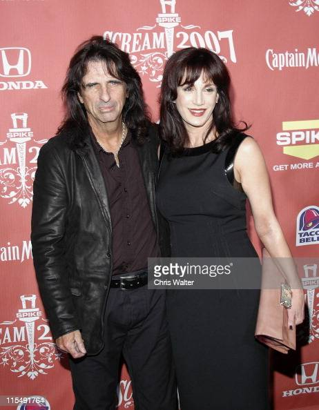 Alice Cooper and Sheryl Cooper arrive at Spike TV's 'Scream 2007' held at The Greek Theatre on October 19 2007 in Los Angeles California