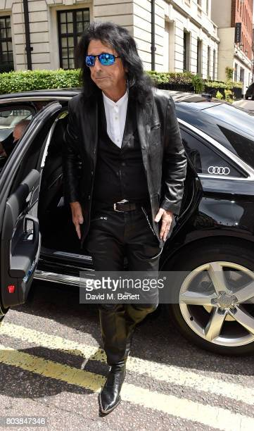 Alice Cooper arrives in an Audi at the Nordoff Robbins at Grosvenor House Hotel on June 30 2017 in London United Kingdom