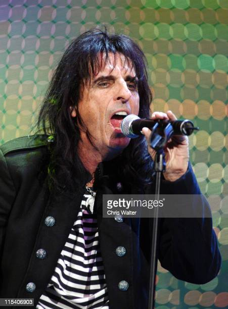Alice Cooper during Alice Cooper's Christmas Pudding 2005 to Benefit The Solid Rock Foundation Show at Dodge Theatre in Phoenix Arizona United States