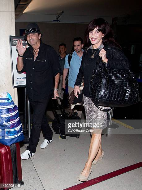 Alice Cooper is seen at LAX on May 18 2014 in Los Angeles California