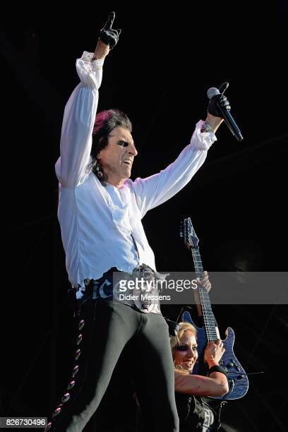 Alice Cooper performing live during the third day of the Wacken Open Air festival on August 5 2017 in Wacken Germany