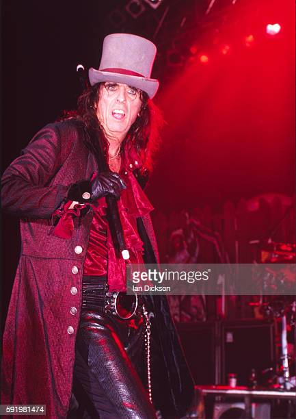 Alice Cooper performing on stage at Astoria in London on May 25 1998