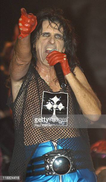 Alice Cooper performs during Alice Cooper Performs at the Michigan State Fair at Michigan State Fair Grounds in Detroit in Detroit Michigan United...