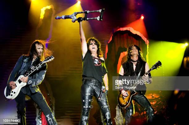 Alice Cooper performs on day 1 of Sonisphere Festival on July 30 2010 in Knebworth England