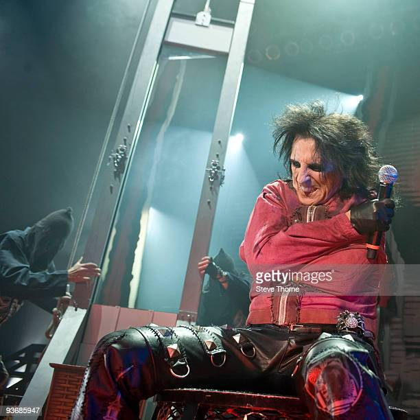 Alice Cooper performs on stage at the Civic Hall on December 1 2009 in Wolverhampton England