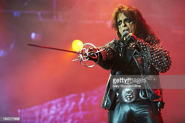 Alice Cooper performs on stage during day 3 of Bloodstock Open Air at Catton Hall on August 12 2012 in Derby United Kingdom