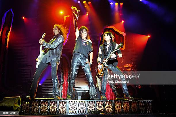 Alice Cooper performs on stage during the first day of Sonisphere Festival 2010 at Knebworth House on July 30 2010 in Stevenage England